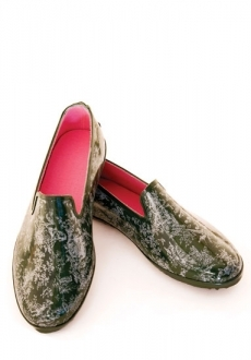 Green Toile Loafer