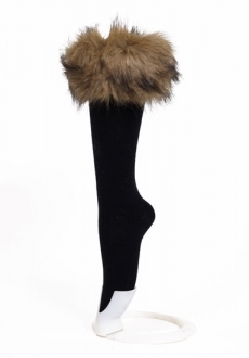 Pipduck Faux Fur Fox on Black